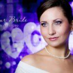 """Makijaż ślubny w fioletach """"Glamour Bride"""" krok po kroku"""