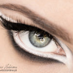 Makijaż graficzny: czerń i biel