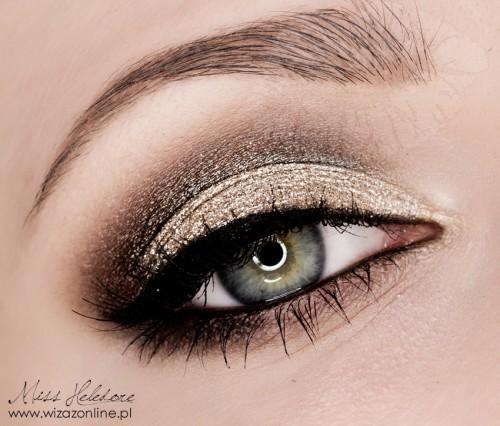 Złoty makijaż na wieczór Wizaż: Monika Mitraszewska