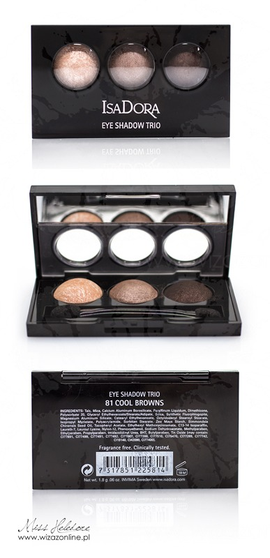 IsaDora Eye Shadow Trio 81 Cool Browns