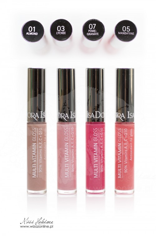 IsaDora Multi Vitamin Gloss - almond, lychee, pomegranate, mandarine