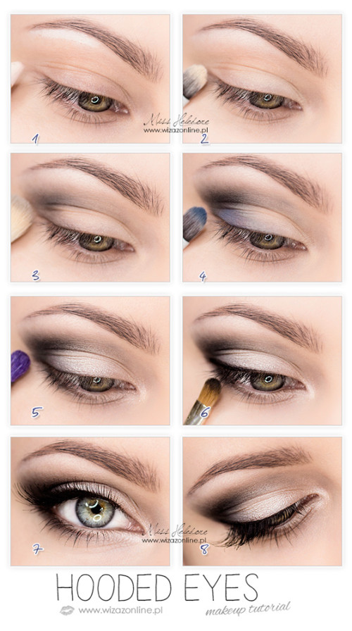 Hooded Eyes Makeup - step by step!