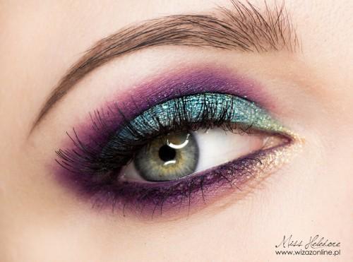 "Makijaż: ""Purpurowy Turkus"" Makeup: ""Purple Turqoise"""