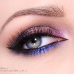 Makijaż: Kolorowy smoky – róż i granat