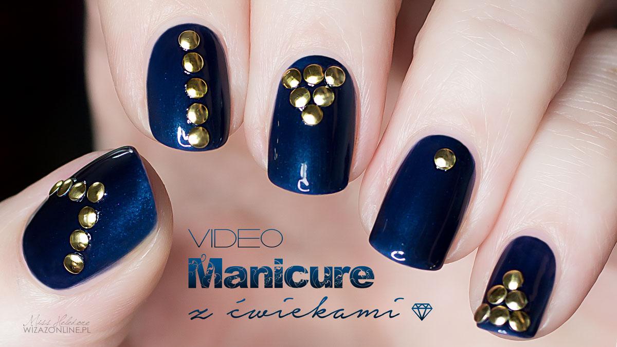 Manicure z ćwiekami - nail studs